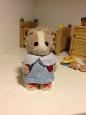 Sylvanian Families Nursery Figure set Maroon Dog Baby