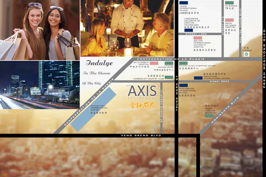 axis residences location maps