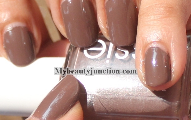 Essie Mink Muffs taupe nail polish swatch and review