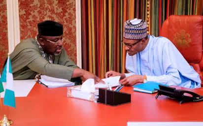 Okorocha Meets Buhari In Aso Rock, Dares Oshiomhole