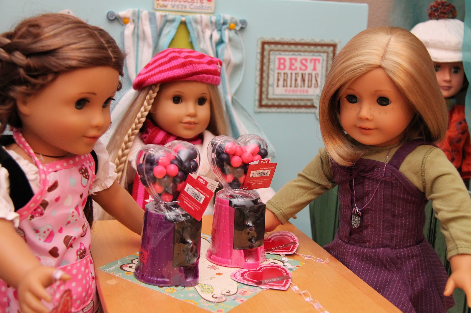 american girl doll play making valentines with our dolls. Black Bedroom Furniture Sets. Home Design Ideas