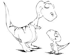 Cute Baby Giganotosaurus Carolinii Coloring Pages
