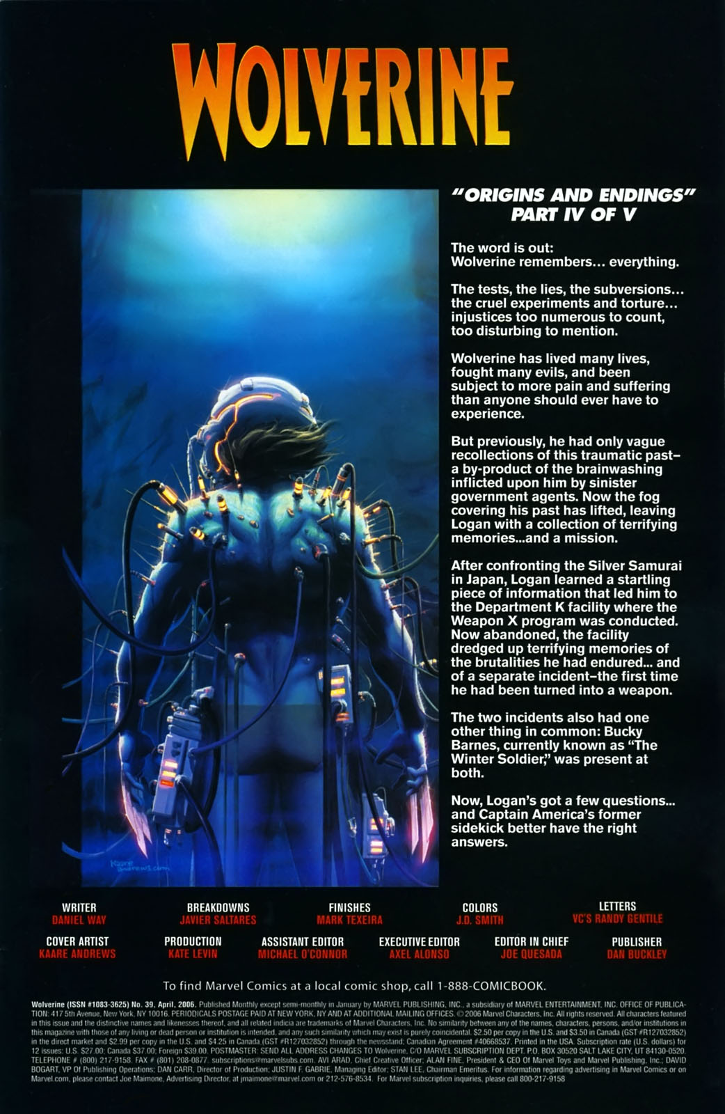Read online Wolverine (2003) comic -  Issue #39 - 2