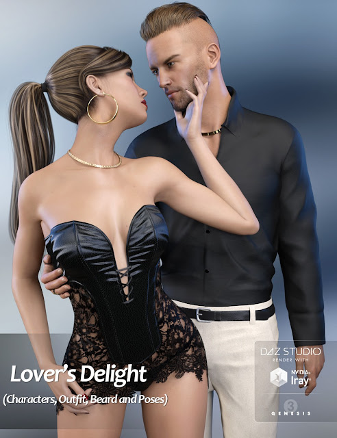Lover's Delight Bundle – HD Characters, Outfit, Beard and Poses