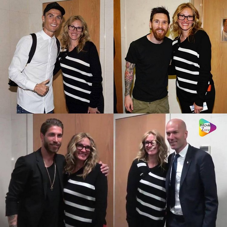 Julia Roberts was embarrassed at a meeting with footballer real and Barcelona