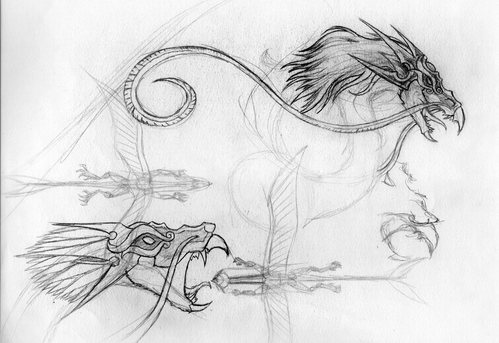 Joshua D. Altobelli's Art: Evil Wind Dragon Sketch