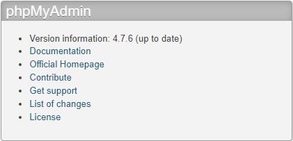 Hướng dẫn cập nhật phpMyAdmin phiên bản mới 4.7.6 trên XAMPP 7