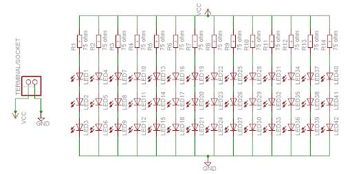 Layout PCB Rangkaian LED Dengan Eagle