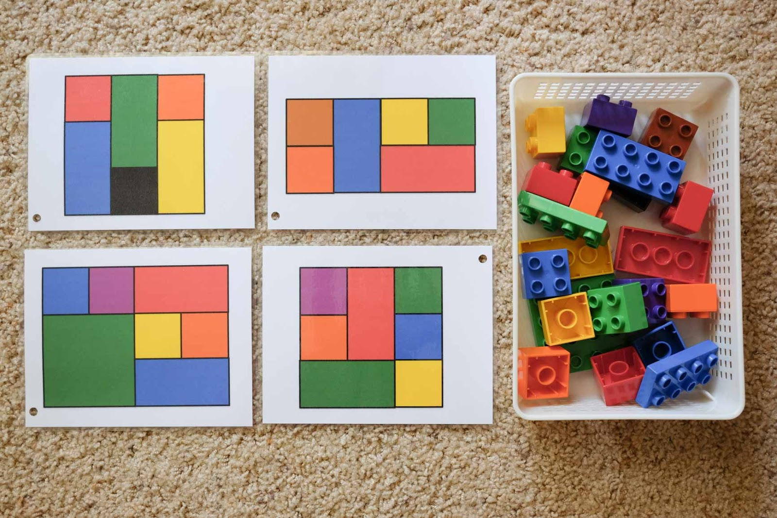 Make A Good Day Duplo Pattern Cards Printable