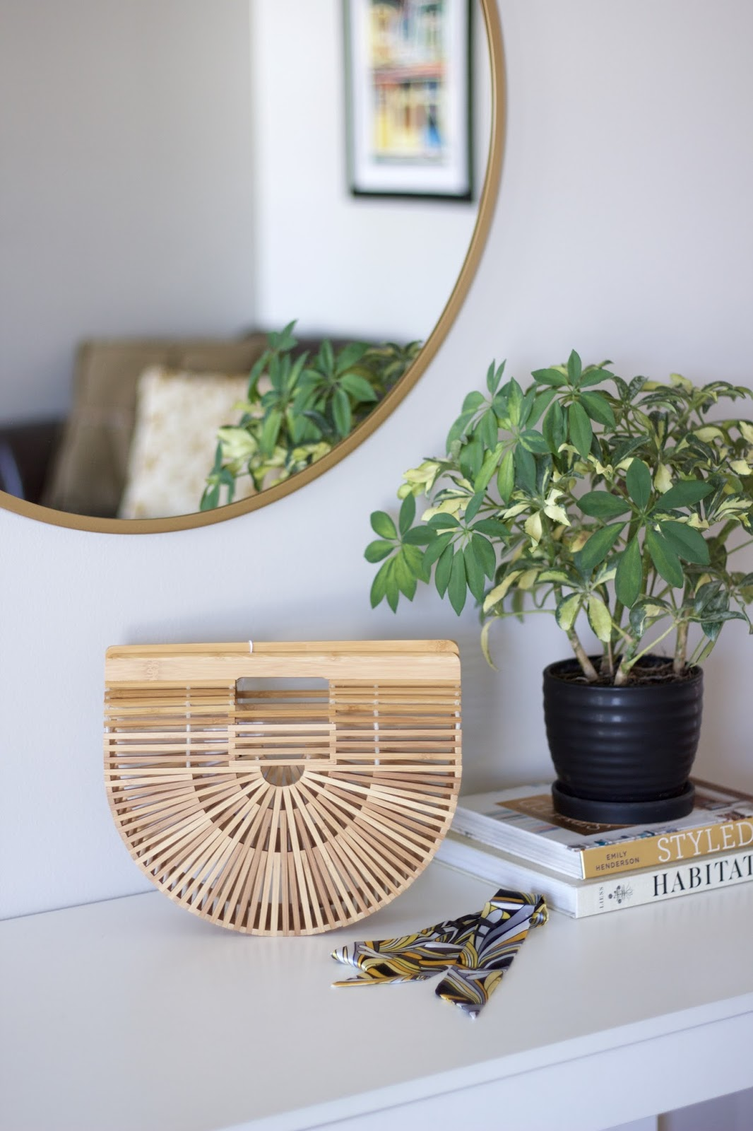 Miuco Handmade Bamboo Ark Purse Size Small
