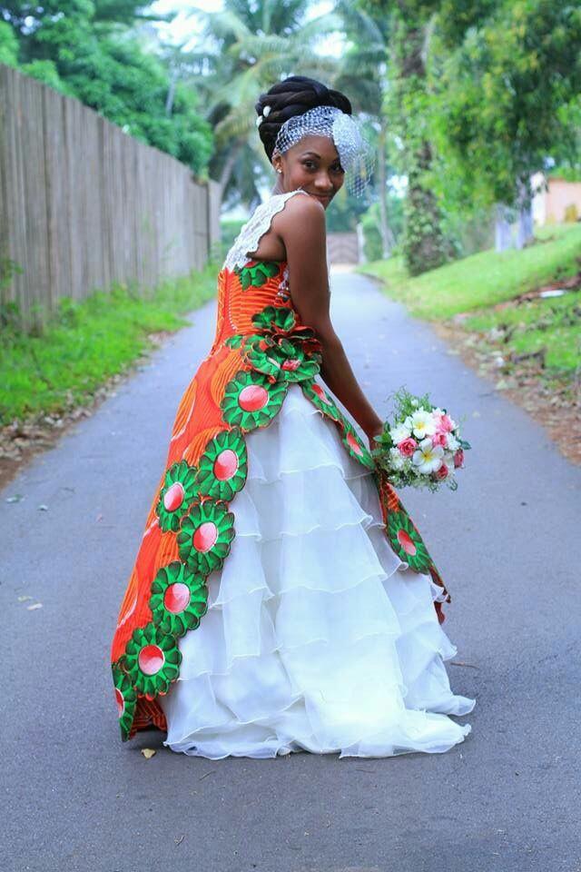 Stunning african inspired wedding dress jestina george for African inspired wedding dresses