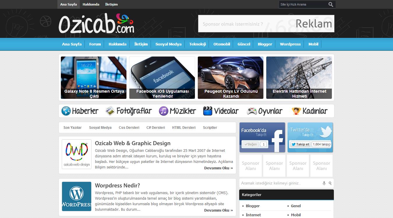 Portal+ Blogger Portal Teması