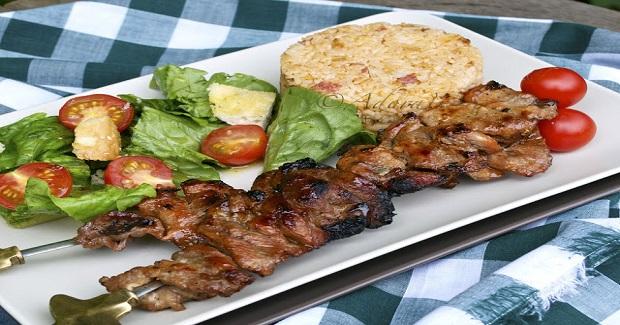 Barbecue Pork Skewers Recipe