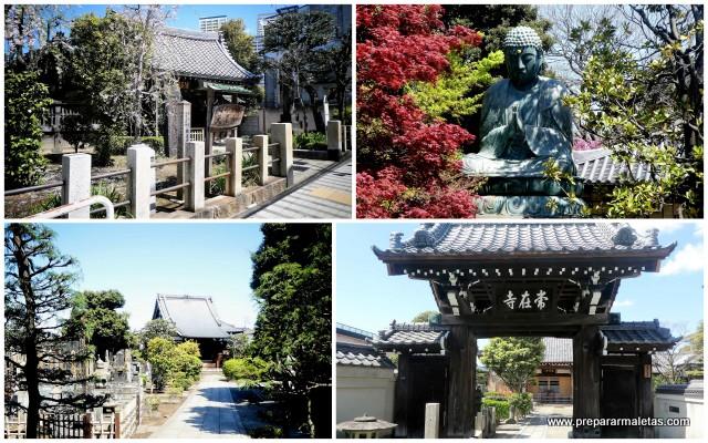 templos en el barrio de yanaka tokio