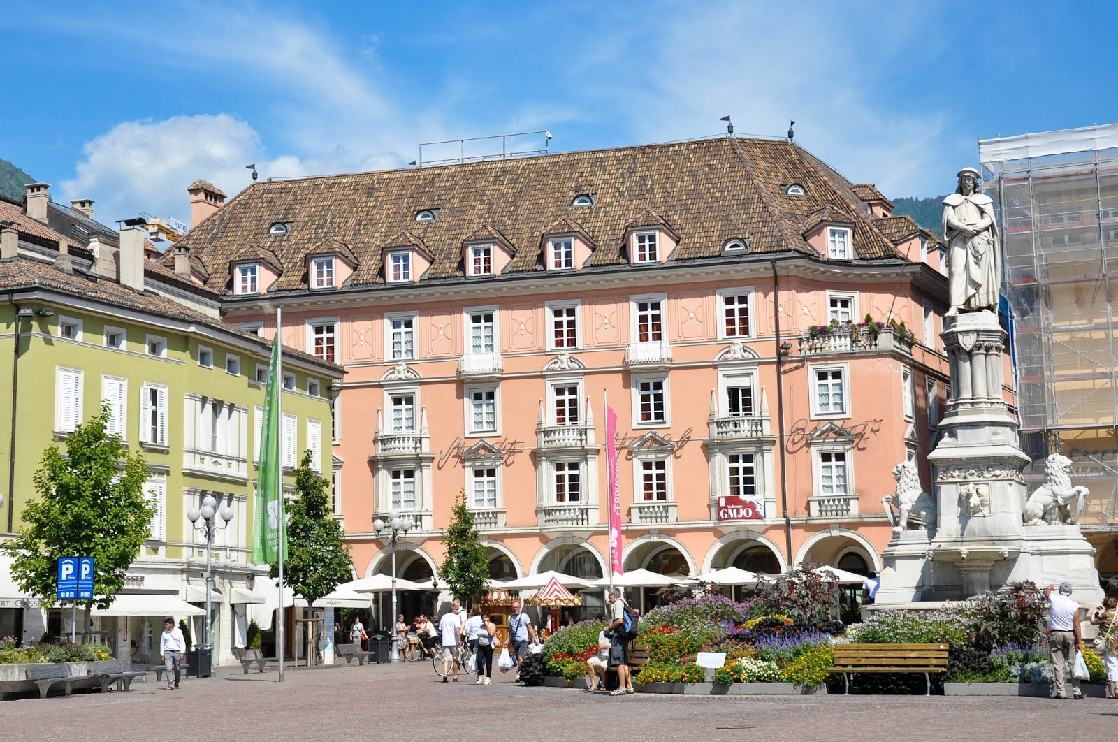 The central square, Bolzano, South Tyrol, Italy