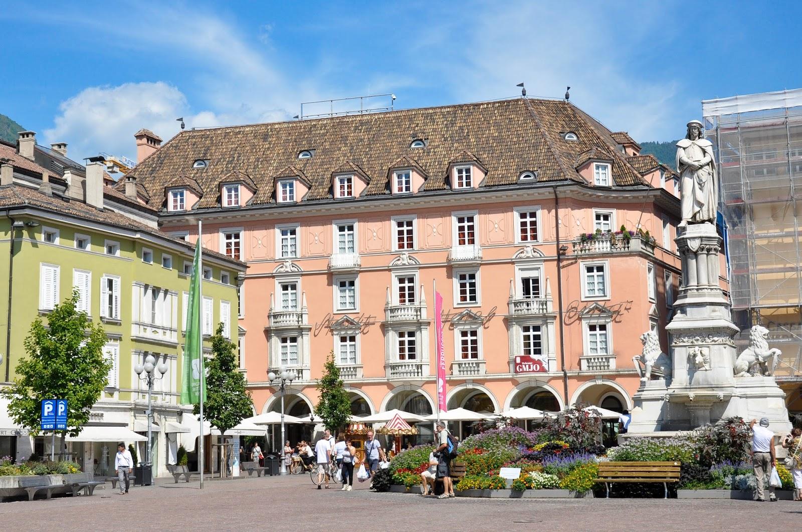 The central square, Bolzano, South Tyrol, Italy