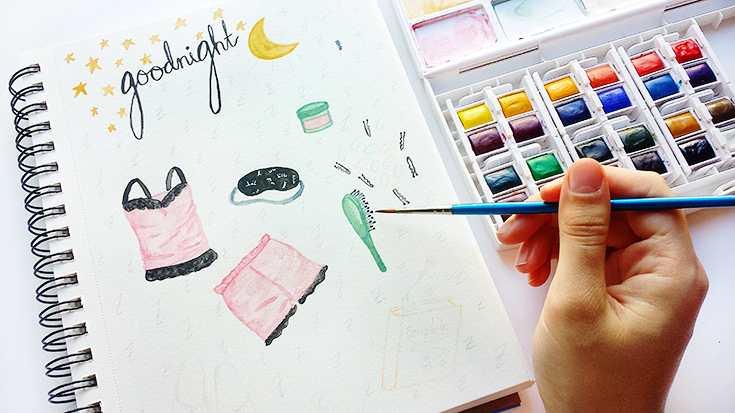 Take a peek at my watercolor illustration process and how I found a solution to those annoying graphite sketch lines in my watercolor paintings.
