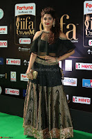 Ritika Singh in a Ethnic Deep Neck Dark Green Choli Ghagra at IIFA Utsavam Awards March 2017 ~ 051.JPG
