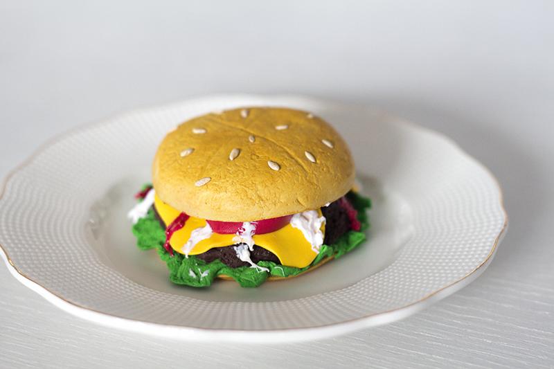 hamburger polymer clay