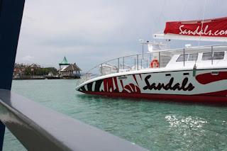 Sandals Catamaran.