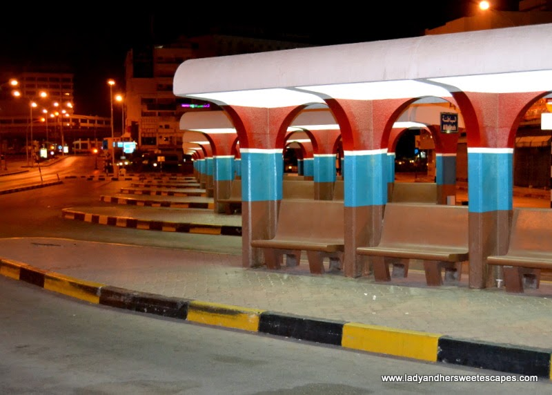 Ruwi bus terminal in Oman