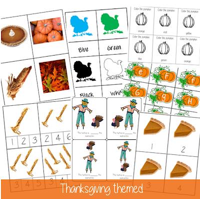 Thanksgiving Activities: Free Montessori Printables! {Welcome to Mommyhood} #thanksgivingactivities, #montessori