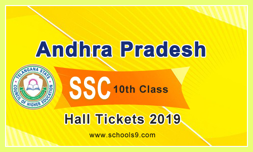 AP SSC Class 10th 2019 Exam Hall Tickets | AP SSC Hall Tickets