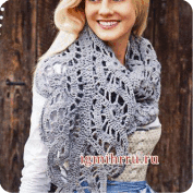 Bufanda calada a Crochet