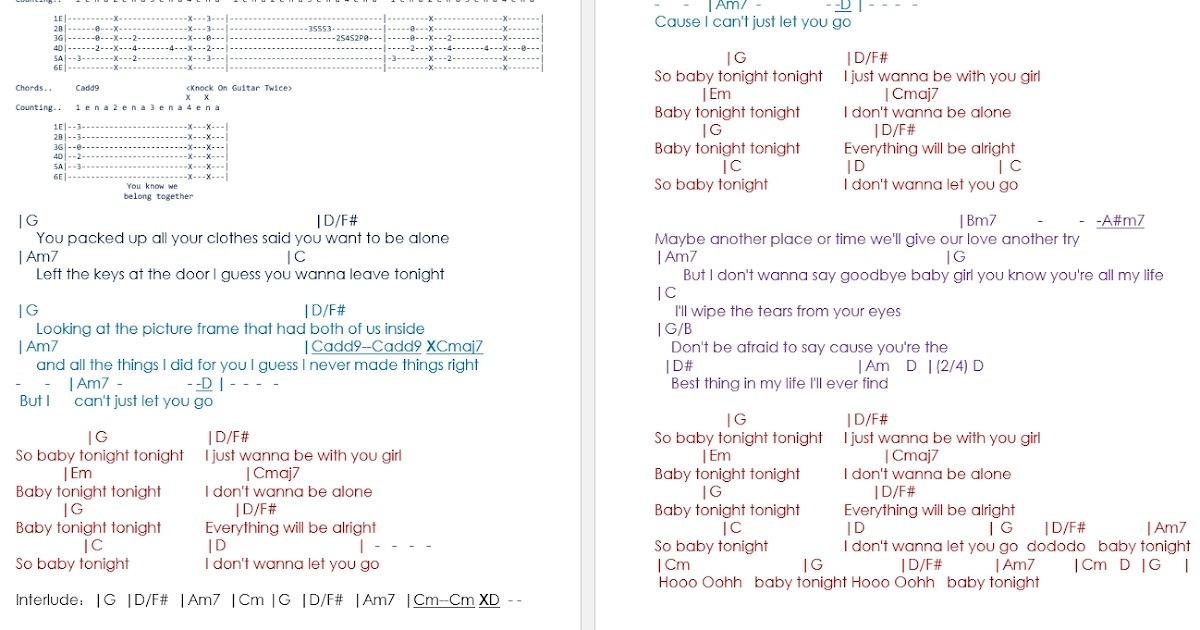 Talkingchord Baby Tonight Chords