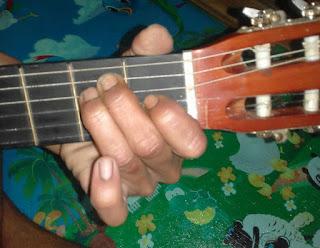 Chord gitar E mayor