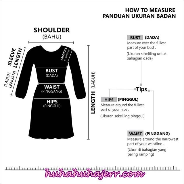 Cara Ukur Badan Dengan Betul - A