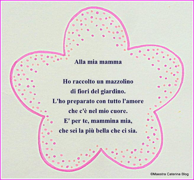 Maestra Caterina Poesia E Lavoretto Festa Della Mamma