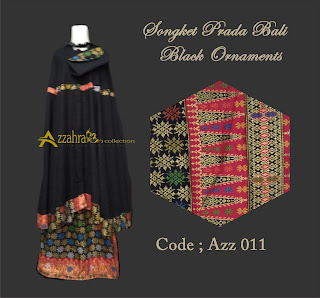 Image Mukena Prada Bali  Black Ornament