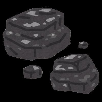 石炭のイラスト