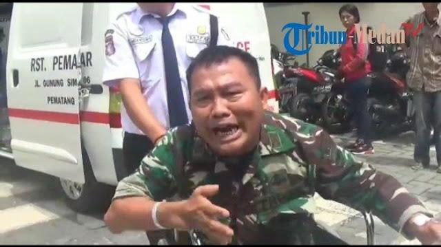 Viral!! Video Seorang Perwira TNI Mengamuk Karena Tak Dilayani dengan Baik di RS Tentara Siantar