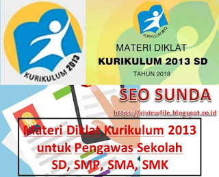 Materi Diklat Kurikulum 2013 untuk Pengawas Sekolah SD, SMP, SMA, SMK