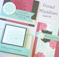 Stampin' Up! Frosted Medallions Winter Christmas New Year Card Kit for Stamp of the Month Club #stampinup www.juliedavison.com