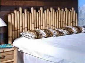 A mi manera una cabecera de cama con bamb - Cabecero de bambu ...