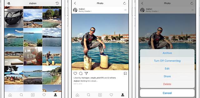 Cara Mengarsipkan Postingan di Instagram  2