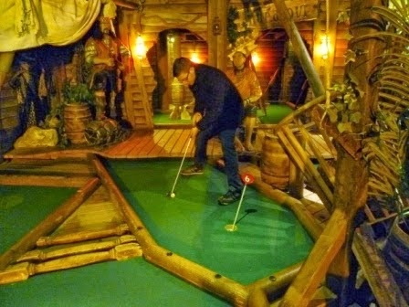 Richard Gottfried at the indoor Pirate Adventure Golf course in Whitby in March. The layout was the 544th visited and 327th played