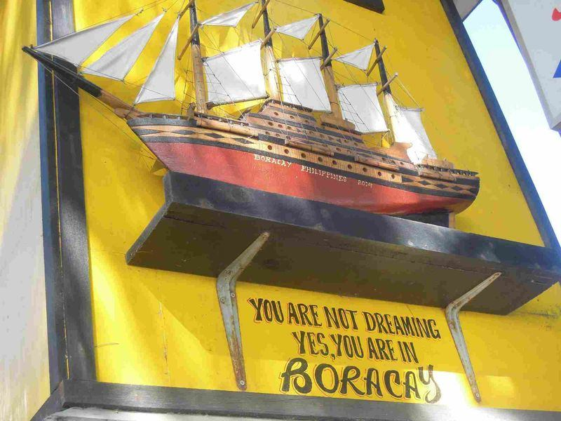 A funny sign telling guests that they are not dreaming that they are in Boracay