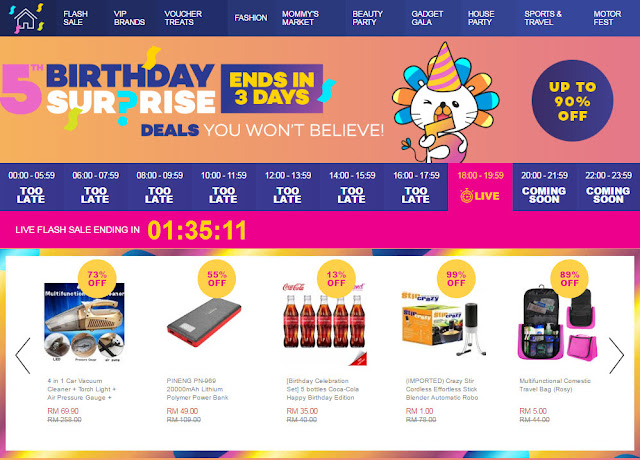 LAZADA DISCOUNT VOUCHER CODES - 5th Birthday Celebration