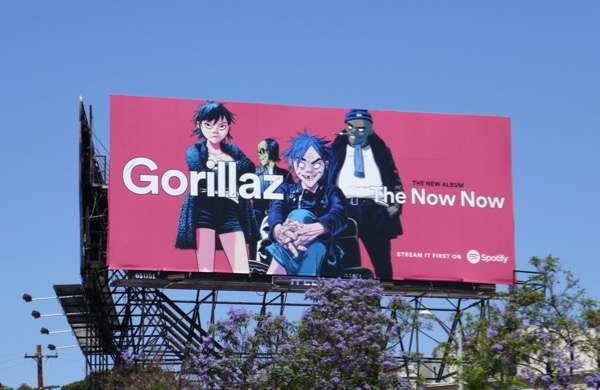 Gorillaz Now Now Spotify billboard