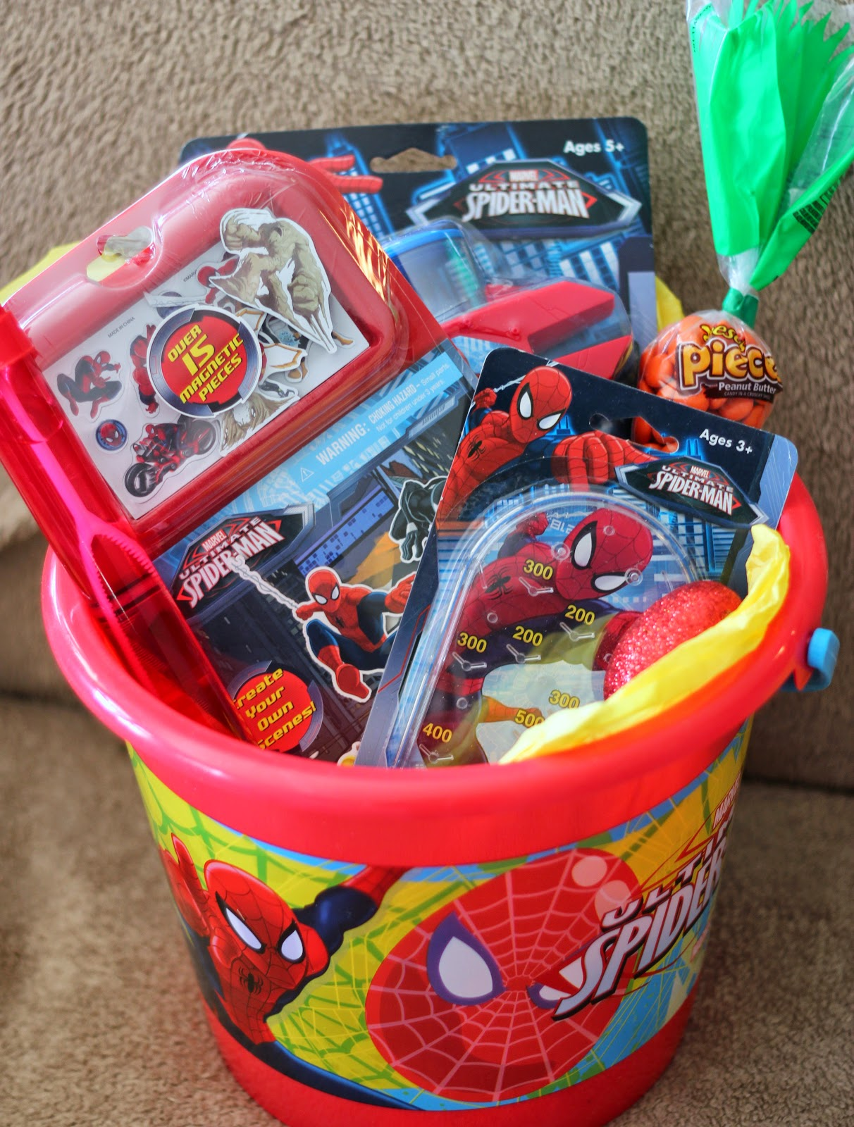 5 easy character easter basket ideas for under 20 each lille punkin 5 spider man this was for my 10 year old son this includes negle Images