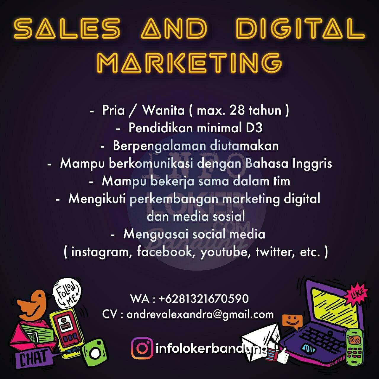 We are Hiring Sales and Digital Marketing In Bandung