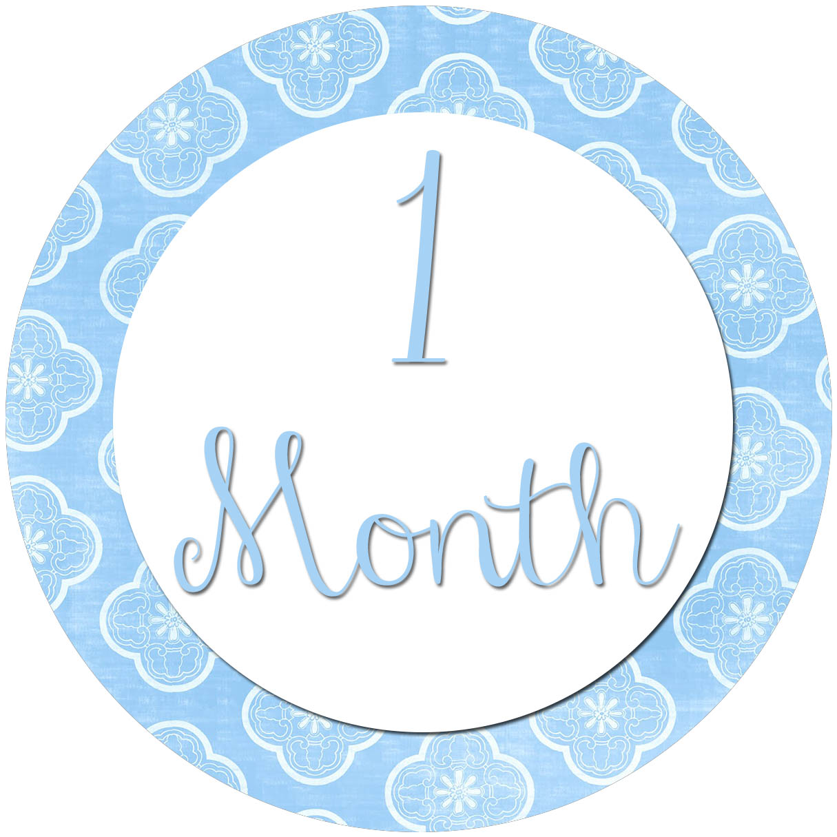 All Four Love Diy Month To Month Stickers