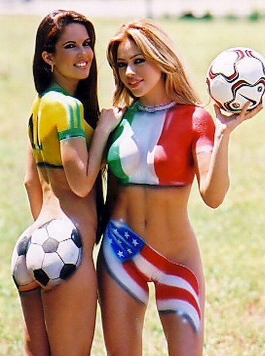 World cup body paint ass apologise