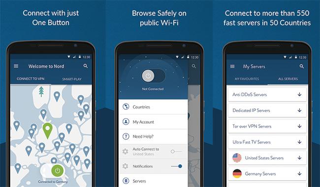 NordVPN - Aplikasi VPN Terbaik Android