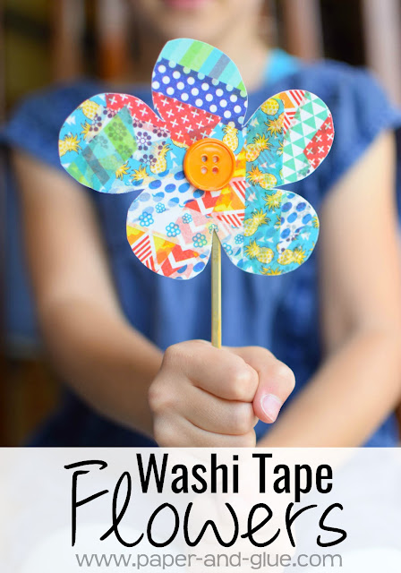 Washi Tape Flower Craft What Can We Do With Paper And Glue