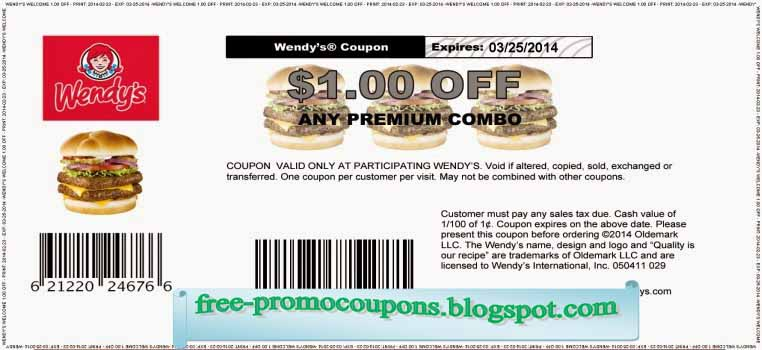 Wendy's coupons ontario 2018
